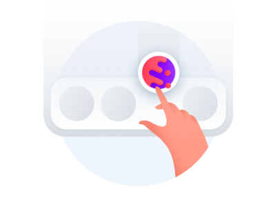 Put Cake On Your Dock hand illustration browser mobile cake