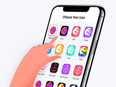 Icon Choices iphone mobile ux ui cake icon