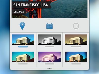 Travelgram Filters & Toggles travelgram ios iphone interface