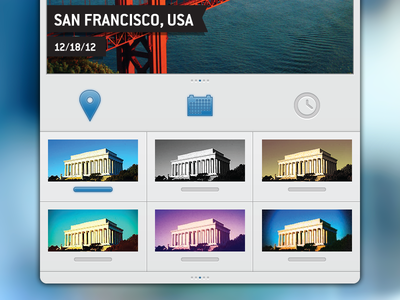Travelgram Filters & Toggles travelgram ios iphone interface