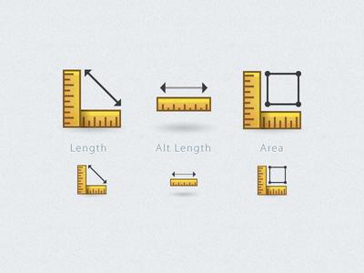 Rulers for GIS Project icons rulers simple