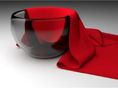 3D Bowl & Cloth Rendering