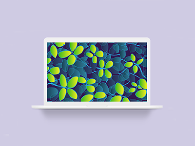 Electric Leafs Forest McBook pauwica-art personal brand web illustration background mcbook neon nature colorful flat digital illustration illustration electric leafs forest