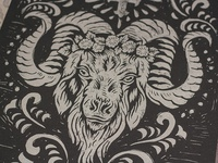 Espíritu de la Cabra - Block Print