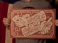 The Hands That Built America - Block Print
