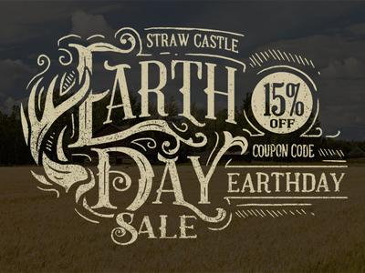 Earth Day earth day typography illustration art design straw castle strawcastle castle
