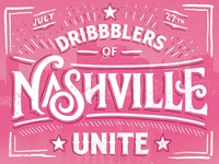 Dribbblers of Nashville Unite!