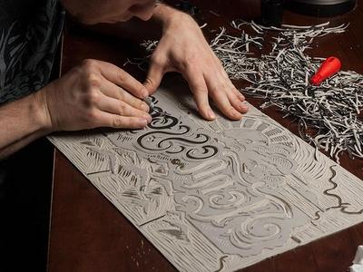 Tennessee State - Linocut strawcastle design illustration art folk americana linocut block print print tennessee southern