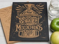 Spirit of the Mountains - Copper Still Block Print