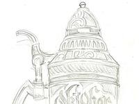 Beer stein sketch dribbble
