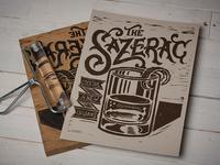 The Sazerac -Block Print
