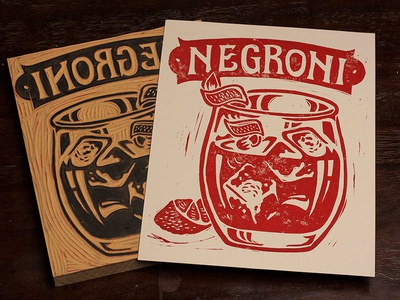 Negroni - Block Print