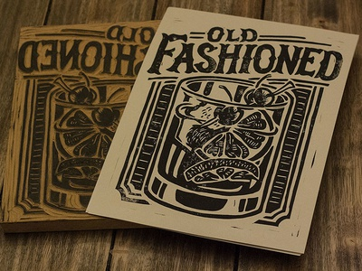 Old Fashioned - Block Print