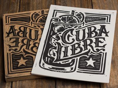 Cuba Libre - Block Print