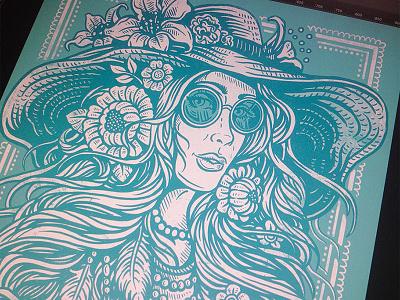 Bohemian Flower Child art design illustration boho bohemian flower child hippie