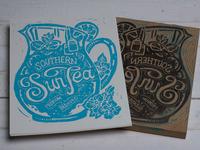 Southern Sun Tea - Block Print