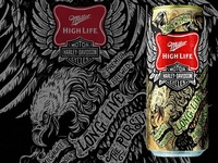 Miller High Life & Harley Davidson
