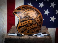 Americana - Vintage Biker Helmet