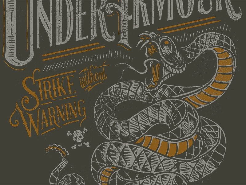 Under Armour - Strike without Warning under armour snake hunting tee apparel t-shirt