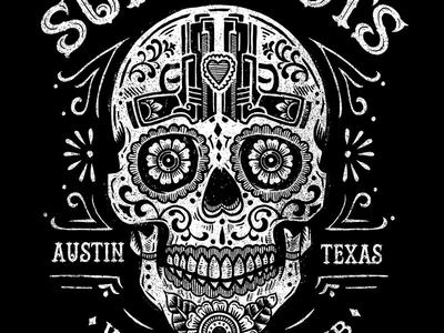 Sure Shots - Women's Gun Club art design illustration sugar skull gun club