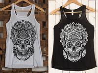 Mandala Sugar Skull - Tank Top