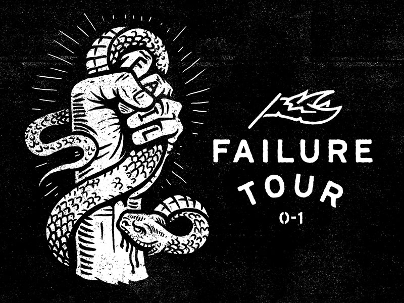 Failure Bites - Failure Tour Tonight in Nashville art design illustration adventures in design aid podcast white trash