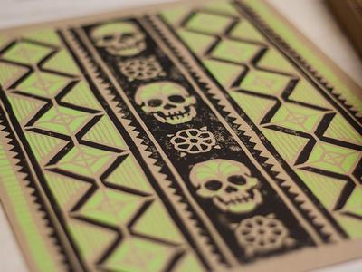 60099ee45 Derrick Castle · Artesanía Sugar Skull - Block Print