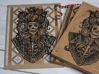 La Calavera Catrina - Block Print