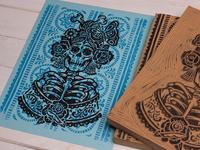 La Rosa Catrina - Block Print