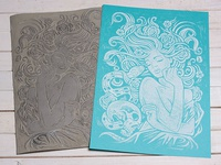 Little Briar Rose - Block Print