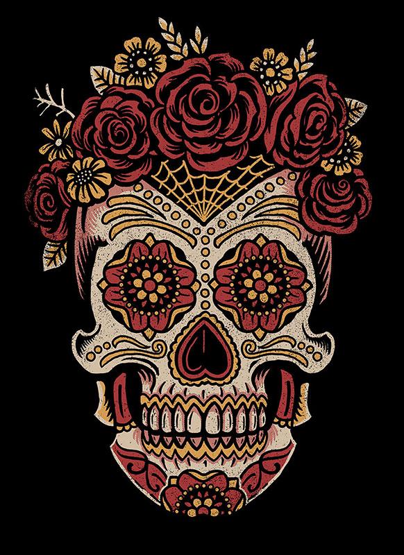 Female sugar skull art web2