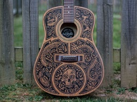 Acoustic Guitar - Sharpie Art