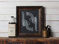 Dos Pistolas - Limited edition screen print