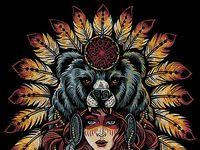 Native bear design web2