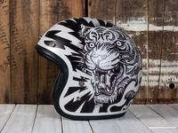 Electric Predators - Motorcycle Helmet Flip side