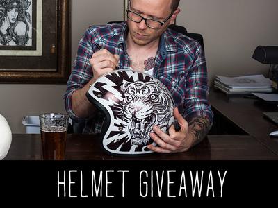 Custom Helmet - Giveaway contest giveaway sharpie helmet motorcycle americana illustration design art