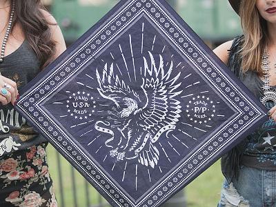 American Eagle - Bandana bandana eagle americana illustration design art
