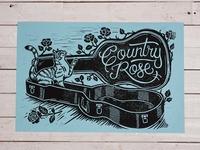 Country Rose - Block Print
