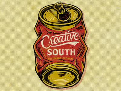 Creative South Beer Can beer can creative south illustration design art
