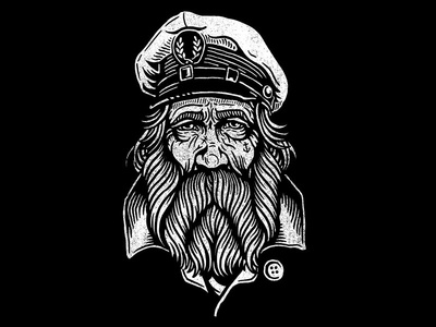 Salty Dog - Flash Art salty dog sailor nautical americana clip art tattoo flash illustration design art