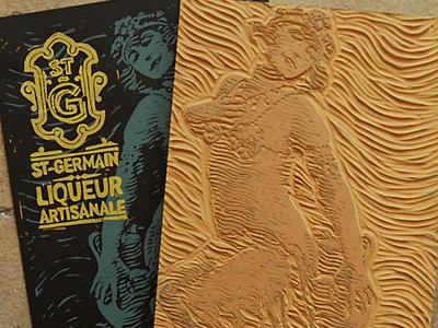 St. Germain derrick castle derrick straw castle nashvillemafia design graphic design illustration art americana nashville drawing castle cocktail st. germain elderflower blockprint typography