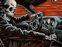 Death Racer - Screen Print