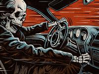 Death Racer - Screen Print