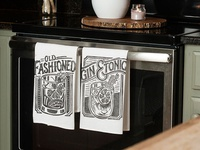 Cocktail Towel set - Old Fashioned and Gin & Tonic