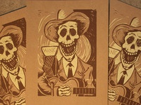 Hank Williams Block Print