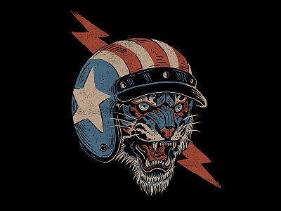 Easy Tiger easy tiger tiger tee t-shirt apparel motorcycle americana illustration design art