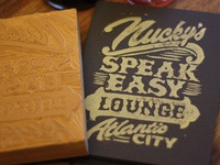 Nucky's Speakeasy Lounge - Block Print