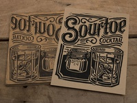 Sourtoe Cocktail - Block Print