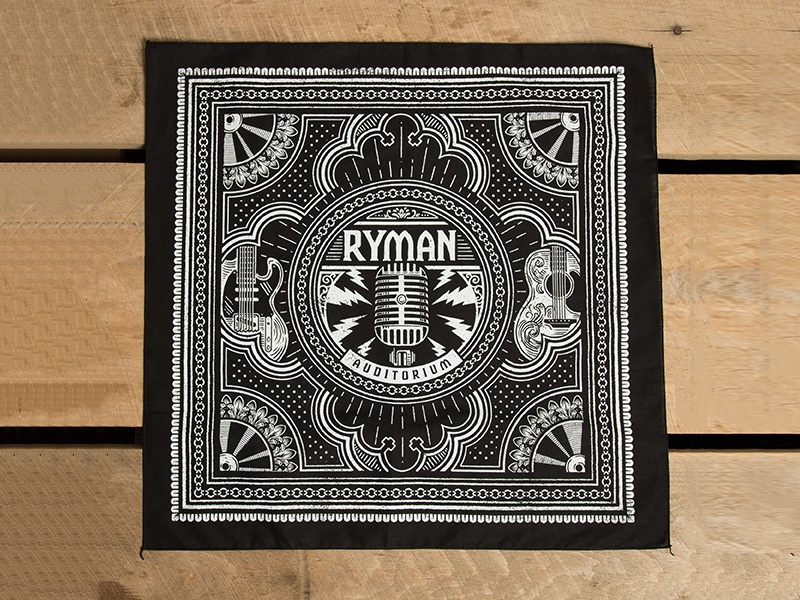 Ryman Bandana americana music city nashville bandana ryman auditorium ryman illustration design art