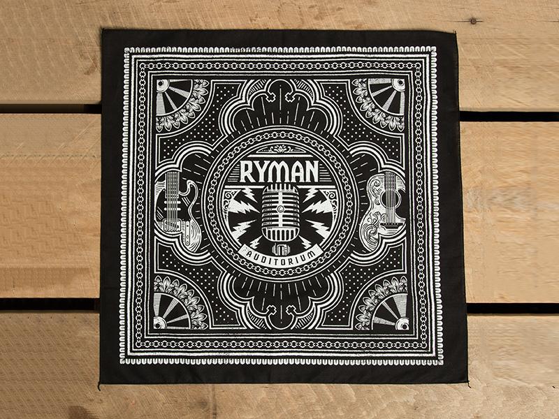 Ryman Bandana americana music city nashville bandana ryman auditorium ryman illustration design art